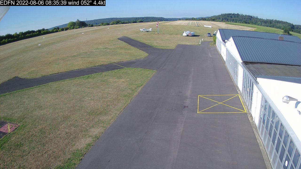 Webcam Flugplatz Marburg EDFN